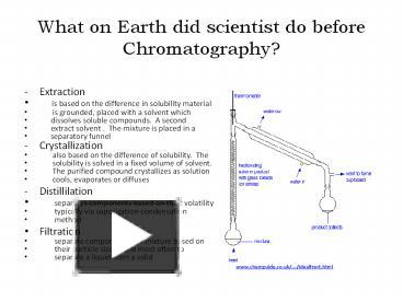 Ppt what on earth did scientist do before chromatography ppt what on earth did scientist do before chromatography powerpoint presentation free to download id 80bc1d zjc4z ccuart Image collections