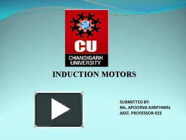 PPT – INDUCTION MOTORS PowerPoint presentation | free to download