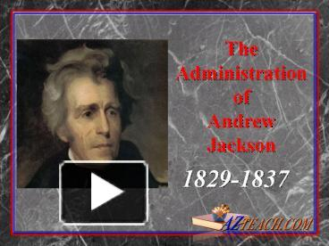 the administration of andrew jackson 1 presidency chart – andrew jackson (1829-1837) election of 1824 major figures in his administration four republicans ran for president on election.