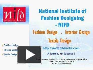 Ppt Fashion Institute India Powerpoint Presentation Free To Download Id 811025 Ndiyy