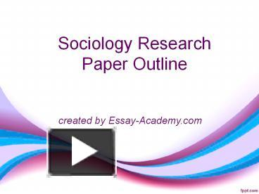 sociologist research paper