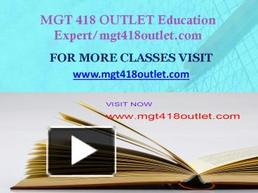 mgt 418 week 2 Essays - largest database of quality sample essays and research papers on mgt 418 week 2.
