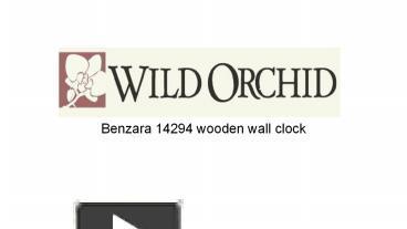 PPT – Benzara 14294 Wooden Wall Clock PowerPoint
