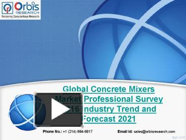PPT – Global Concrete Mixers Industry Professional Survey