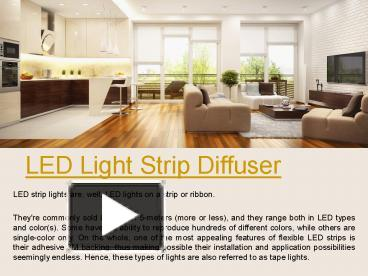 PPT – led strip light cover PowerPoint presentation | free to view