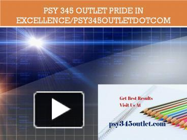 psy 345 week one worksheet Psy 345 week 2 visual perception discussion your group will facilitate a class discussion on the role of attention in visual perception create a discussion guide that includes 8 to 10 open-ended questions that will help facilitate the discussion.