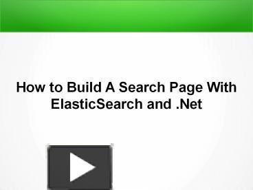 Elasticsearch With Nest