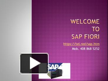 PPT – SAP Fiori PowerPoint presentation | free to download - id