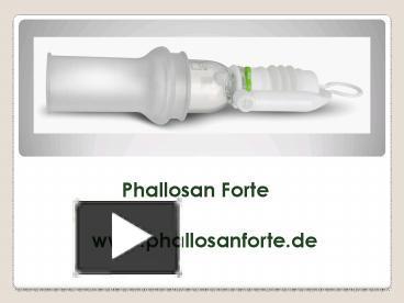 Phallosan erfahrungen