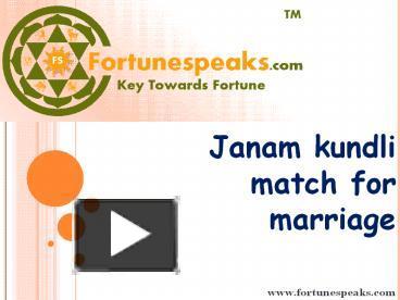 janam kundli match making free