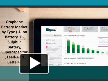 PPT – Graphene Battery Market by Type (Li-Ion Battery, Li-Sulphur