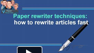 term paper rewriter