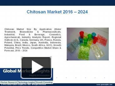 PPT – PPT for Chitosan Market: Global Market Insights, Inc