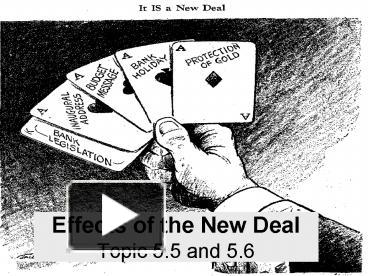 effects of the new deal