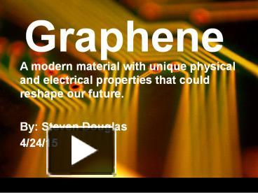 PPT – Graphene PowerPoint presentation | free to download