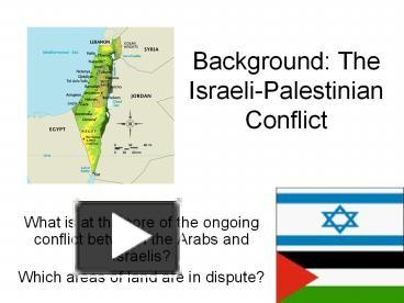 the background of the ongoing conflict between the arabs and israelis