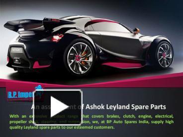 PPT – Genuine Ashok Leyland Spare Parts PowerPoint presentation