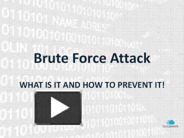 Ppt Brute Force Attack Powerpoint Presentation Free To Download