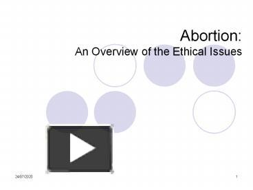 abortion is ethical