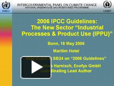 ppt 2006 ipcc guidelines the new sector powerpoint presentation