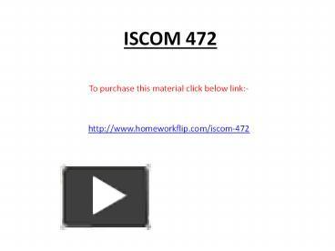 iscom 472 week 5 learning team Iscom 472 week 5 learning team assignment business process improvement plan and metrics paper $499 add to cart iscom 472 week 5.
