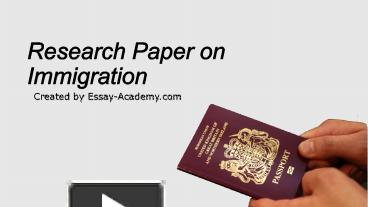 research paper on immigration