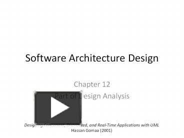 Ppt Software Architecture Design Powerpoint Presentation Free To View Id 861bdd Ntfio