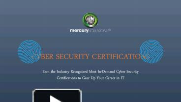 PPT – The Ultimate Guide To Cyber Security Certifications