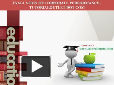 evaluation of corporate performance essay