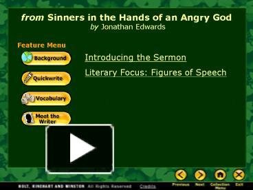 analyzing sinners in the hands of an angry god jonathan edwards Sinners in the hand of an angry god- rhetorical analysis essayssinners in the hands of an angry god jonathan edward's sinners in the hands of an angry god captures the intensity of the great awakening.