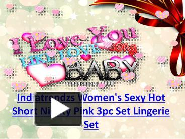 PPT – Womens Sexy Night Dress   Lingerie Set For Sex Pack Of 3 PowerPoint  presentation  fa5de1d4e
