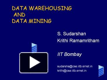 PPT – DATA WAREHOUSING AND DATA MINING PowerPoint