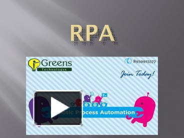 PPT – RPA training in Chennai PowerPoint presentation | free