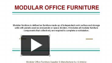 Ppt Modular Office Furniture