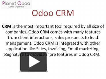 PPT – Odoo CRM PowerPoint presentation | free to download - id