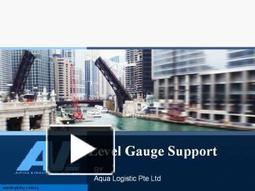 level gauge support