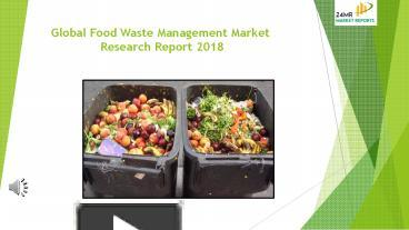 Ppt Food Waste Management Market Research Report 2018