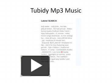 Tubidy. io mp3 download