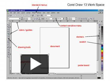PPT – Corel Draw 13 Work Space PowerPoint presentation