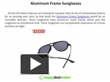 b2624833054 PPT – Polarized Aluminum Frame Sunglasses