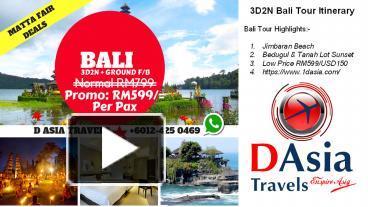 Ppt Bali Tour Itineraries 4 Days 3 Nights D Asia Travels Powerpoint Presentation Free To Download Id 8bb118 Mdqwm