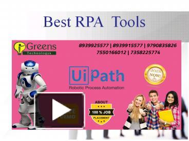 PPT – Best RPA Tools PowerPoint presentation | free to