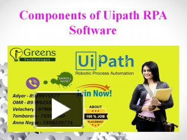 PPT – Components of Uipath RPA Software PowerPoint