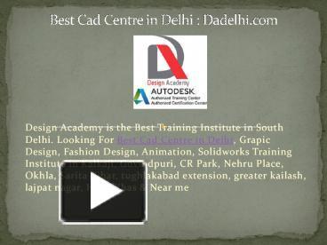 Ppt Best Cad Centre In Delhi Powerpoint Presentation Free To Download Id 8c6581 Zgfhn