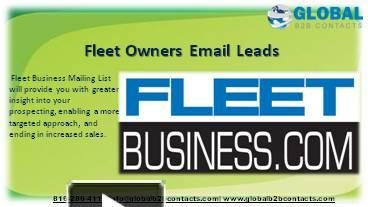 PPT – Fleet Owners Email Leads PowerPoint presentation