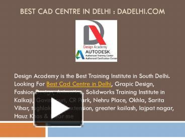 Ppt Best Cad Centre In Delhi Ncr Powerpoint Presentation Free To Download Id 8ce32b Yjk5y