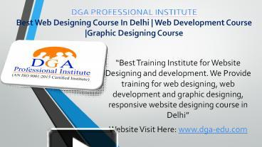 Ppt Web Designing Html Css Web Development Training Institute In Delhi Powerpoint Presentation Free To Download Id 8cff55 Ztbmn