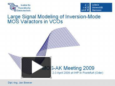 PPT – Large%20Signal%20Modeling%20of%20Inversion-Mode%20MOS