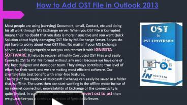 Find OST to PST Conversion at Affordable Price