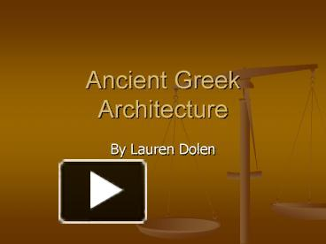 ppt ancient greek architecture powerpoint presentation free to